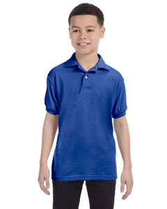 054Y Youth 5.2 oz., 50/50 EcoSmart® Jersey Knit Polo