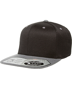Wholesale Flexfit 110FT Adult Wool Blend Snapback Two-Tone Cap - BLACK/ GREY
