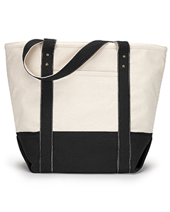 1211 Seaside Zippered Cotton Tote