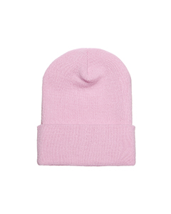 Wholesale Yupoong 1501 Adult Cuffed Knit Cap - PINK