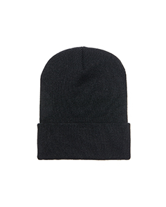 Wholesale Yupoong 1501 Adult Cuffed Knit Cap - BLACK