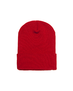 Wholesale Yupoong 1501 Adult Cuffed Knit Cap - RED