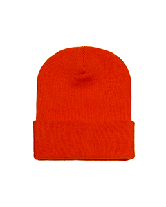 Wholesale Yupoong 1501 Adult Cuffed Knit Cap - ORANGE