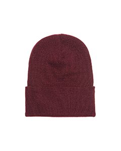 Wholesale Yupoong 1501 Adult Cuffed Knit Cap - MAROON