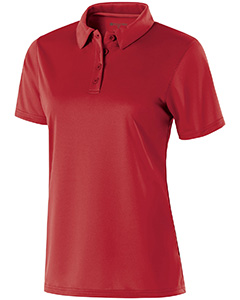 222319 Ladies Polyester Textured Stripe Shift Polo