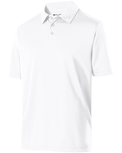 222519 Adult Polyester Textured Stripe Shift Polo