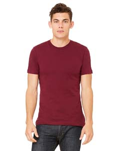 Wholesale Bella + Canvas 3001C Unisex Jersey Short-Sleeve T-Shirt - MAROON