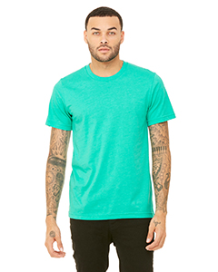 Wholesale Bella + Canvas 3001C Unisex Jersey Short-Sleeve T-Shirt - HEATHER SEA GRN
