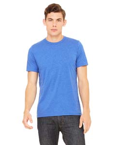 Wholesale Bella + Canvas 3001C Unisex Jersey Short-Sleeve T-Shirt - HTHR TRUE ROYAL