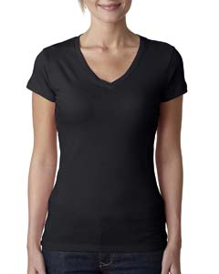 Wholesale Next Level 3400L Ladies' Perfect Sporty V - BLACK
