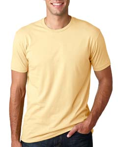 Wholesale Next Level 3600 Men's Cotton Crew - BANANA CREAM