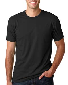 Wholesale Next Level 3600 Men's Cotton Crew - BLACK