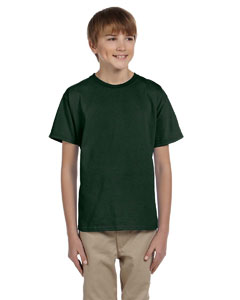 Wholesale Jerzees 363B Youth 5 oz. HiDENSI-T® T-Shirt - FOREST GREEN