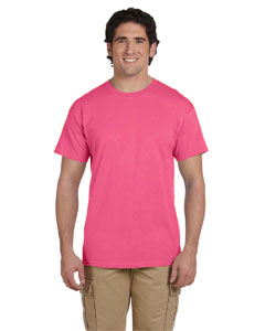 Wholesale Fruit of the Loom 3931 Adult 5 oz. HD Cotton™ T-Shirt - NEON PINK