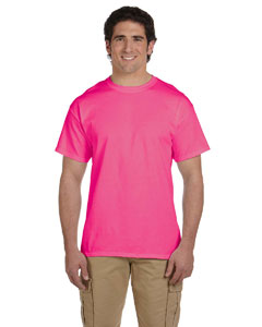 Wholesale Fruit of the Loom 3931 Adult 5 oz. HD Cotton™ T-Shirt - RETRO HTH PINK