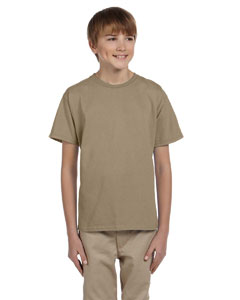 Wholesale Fruit of the Loom 3931B Youth 5 oz. HD Cotton™ T-Shirt - KHAKI