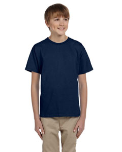 Wholesale Fruit of the Loom 3931B Youth 5 oz. HD Cotton™ T-Shirt - J NAVY