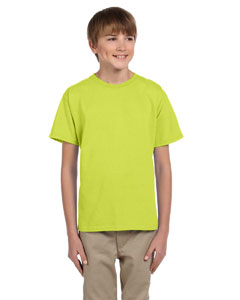 Wholesale Fruit of the Loom 3931B Youth 5 oz. HD Cotton™ T-Shirt - SAFETY GREEN