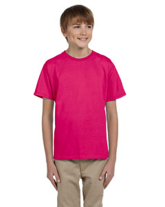 Wholesale Fruit of the Loom 3931B Youth 5 oz. HD Cotton™ T-Shirt - CYBER PINK