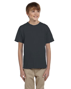 Wholesale Fruit of the Loom 3931B Youth 5 oz. HD Cotton™ T-Shirt - BLACK HEATHER