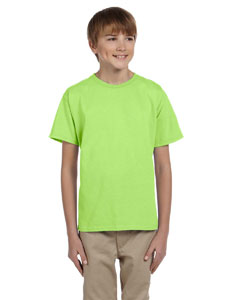 Wholesale Fruit of the Loom 3931B Youth 5 oz. HD Cotton™ T-Shirt - NEON GREEN