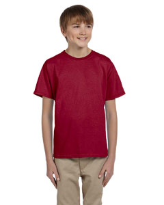 Wholesale Fruit of the Loom 3931B Youth 5 oz. HD Cotton™ T-Shirt - CARDINAL