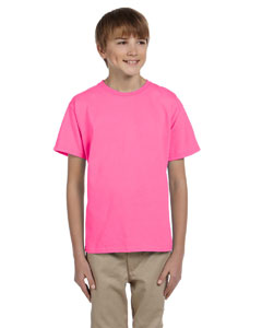 Wholesale Fruit of the Loom 3931B Youth 5 oz. HD Cotton™ T-Shirt - NEON PINK