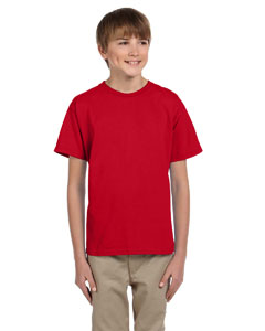Wholesale Fruit of the Loom 3931B Youth 5 oz. HD Cotton™ T-Shirt - FIERY RED