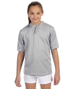 427 Youth Wicking Two-Button Jersey