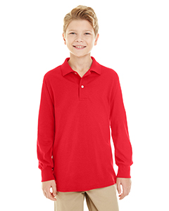 437YL Youth 5.6 oz. SpotShield™ Long Sleeve Jersey Polo