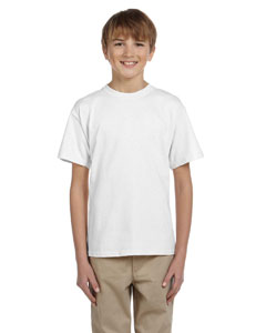 Wholesale Hanes 5370 Youth 5.2 oz., 50/50 EcoSmart® T-Shirt - WHITE