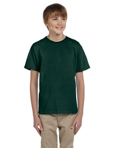 Wholesale Hanes 5370 Youth 5.2 oz., 50/50 EcoSmart® T-Shirt - DEEP FOREST