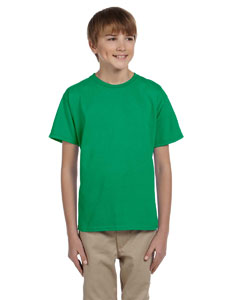 Wholesale Hanes 5370 Youth 5.2 oz., 50/50 EcoSmart® T-Shirt - KELLY GREEN