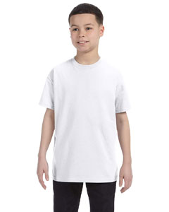 Wholesale Hanes 54500 Youth 6.1 oz. Tagless® T-Shirt - WHITE