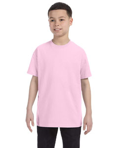 Wholesale Hanes 54500 Youth 6.1 oz. Tagless® T-Shirt - PALE PINK