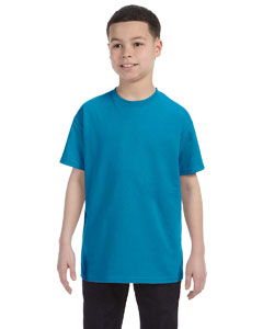 Wholesale Hanes 54500 Youth 6.1 oz. Tagless® T-Shirt - TEAL