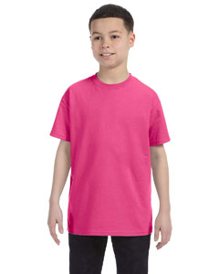 Wholesale Hanes 54500 Youth 6.1 oz. Tagless® T-Shirt - WOW PINK