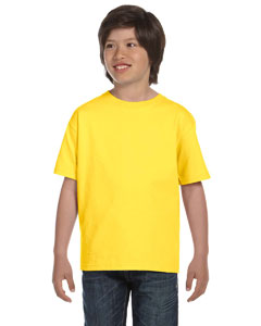 Wholesale Hanes 5480 Youth 5.2 oz. ComfortSoft® Cotton T-Shirt - YELLOW