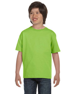 Wholesale Hanes 5480 Youth 5.2 oz. ComfortSoft® Cotton T-Shirt - LIME