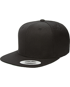 Wholesale Yupoong 6089 Adult 6-Panel Structured Flat Visor Classic Snapback - BLACK
