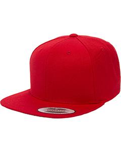 6089 Adult 6-Panel Structured Flat Visor Classic Snapback