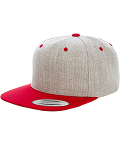 6089MT Adult 6-Panel Structured Flat Visor Classic Two Tone Snapback