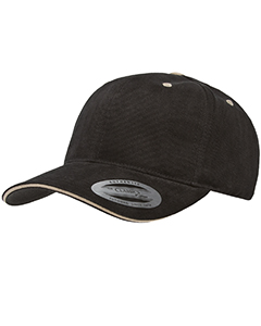 6262S Adult Brushed Cotton Twill 6-Panel Mid-Profile Sandwich Cap