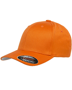 Wholesale Flexfit 6277 Adult Wooly 6-Panel Cap - ORANGE