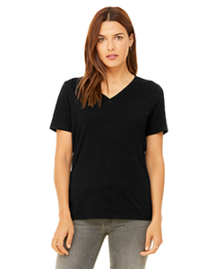 6405 Ladies' Relaxed Jersey Short-Sleeve V-Neck T-Shirt