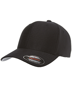 Wholesale Flexfit 6572 Adult Adult Cool & Dry Callocks Tricot Cap - BLACK