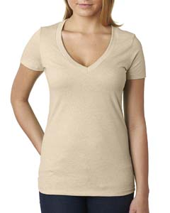 6640 Ladies' CVC Deep V