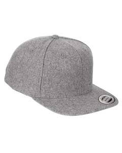 6689 Adult 6-Panel Melton Wool Structured Flat Visor Classic Snapback Cap