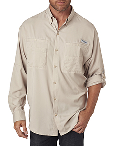 Wholesale Columbia 7253 Men's Tamiami™ II Long-Sleeve Shirt - FOSSIL