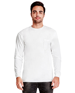7451 Adult Inspired Dye Long-Sleeve Crew with Pocket
